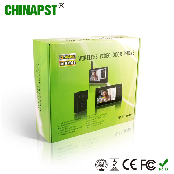 High quality 2.4GHz 7 inch wireless Digital video Door Phone PST